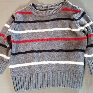 Children's Place Gray Sweater w/ Stripes 6-9 mths